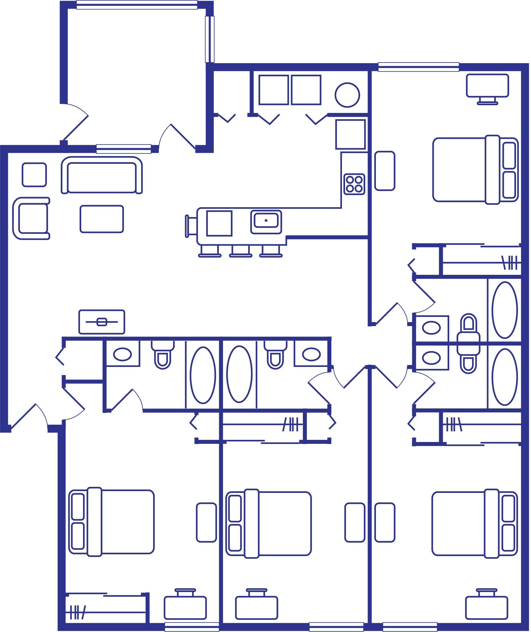 4 Bedroom & 4 Bath Floorplan At Alight West Tenn